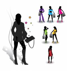 girls collection vector image