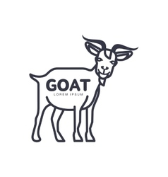 goat head logo template for meat and dairy vector image