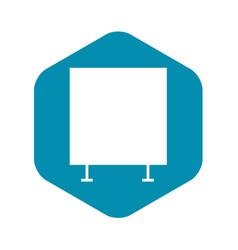 Graph board icon simple style vector