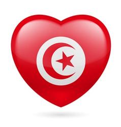 Heart icon of Tunisia vector