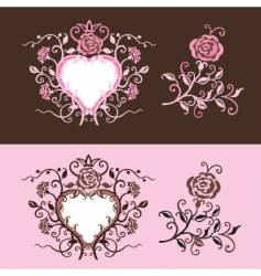 Heart of roses vector