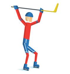 hockey player 02 vector image