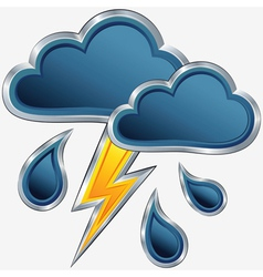 Icon storm weather vector