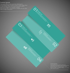 Infographic template with askew divided rhombus to vector