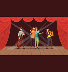 jazz band concert flat vector image