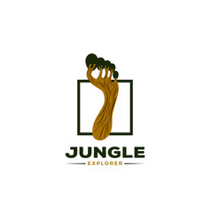 jungle explore logo symbol icon vector image