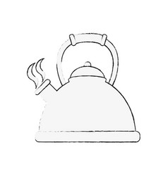 kettle kitchen appliance vector image