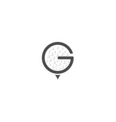 Letter g golf logo design template vector