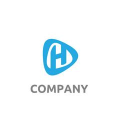 letter initial h modern logo design vector image