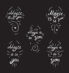 Lettering Motivation Magic vector image