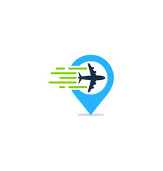 locate travel logo icon design vector image