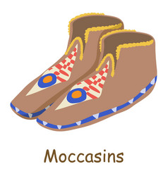 moccasins icon isometric 3d style vector image