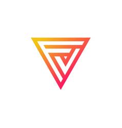 Monogram letter fv logo design vector