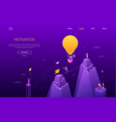 motivation - modern colorful isometric web vector image