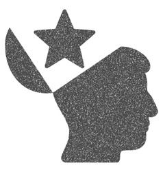 Open Head Star Grainy Texture Icon vector image