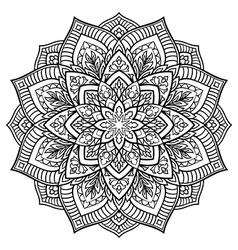 Oriental filigree mandala vector