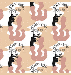 Pattern with hand drawn flat vector