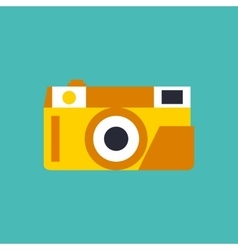 Photo camera icon in flat style vector