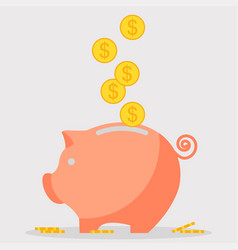 Pig moneybox icon vector