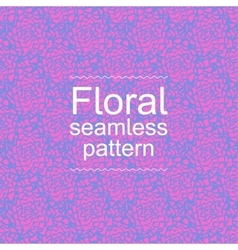 Pink-blue floral seamless pattern vector