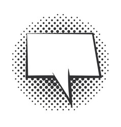 pop art speech bubble comic template halftone vector image
