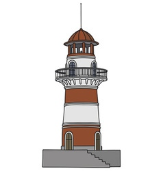 Red lighthouse vector image vector image