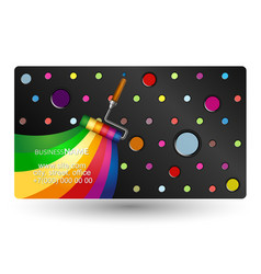 roller painting business card vector image