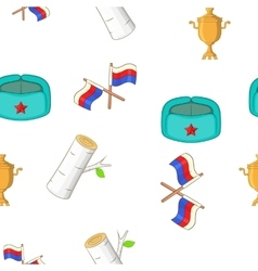 Russia pattern cartoon style vector