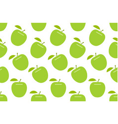 Seamless pattern with apple vector