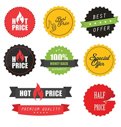 set commercial sale stickers and labels vector image