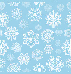 snowflakes seamless pattern abstract christmas vector image