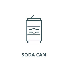 soda can line icon linear concept outline vector image