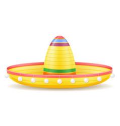 Sombrero national mexican headdress vector