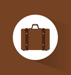 Suitcase travel equipment icon vector