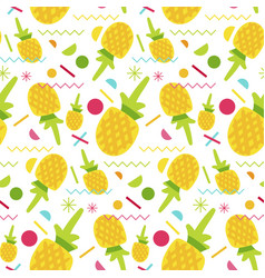 sweet pineapple seamless pattern vector image