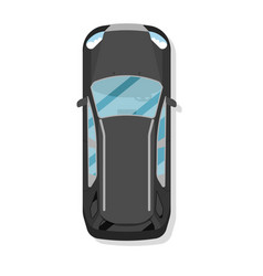 Top view family hatchback car isolated icon vector