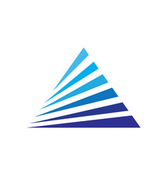 Triangle business arrow vector