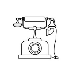 vintage antique telephone vector image