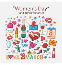 Womens day icons vector image