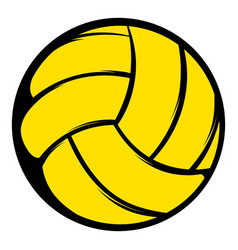 Yellow volleyball ball icon icon cartoon vector