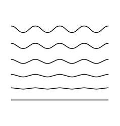 zigzag seamless wave lines set wavy wiggly black vector image