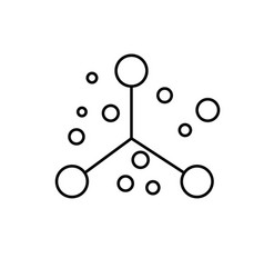 atom physics science education icon vector image