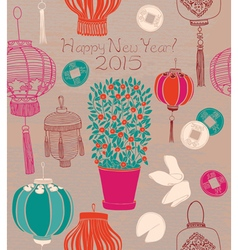 Chinese new year card vector image vector image