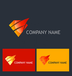 diamond shine abstract company logo vector image