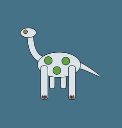Flat icon design collection giraffe toy vector