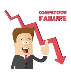 Happy businessman or manager rejoices failure vector image vector image