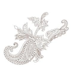 Paisley Henna Ornament vector image