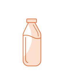 Silhouette milk bottle glass with calcium vector