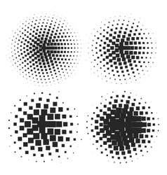 Abstract Halftone Elements vector image