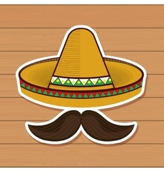 mexican culture traditional poster vector image